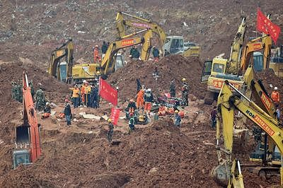 First body recovered from China landslide, 85 still missing