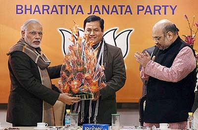 BJP departs from practice, names Assam CM candidate