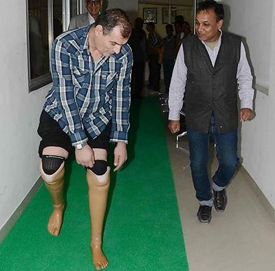 New lease of life: Kosovan amputee gets Jaipur legs