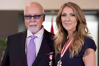 Celine Dion greets mourners at husband's wake