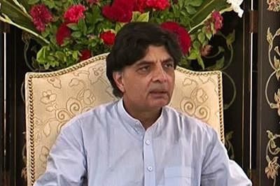 Pakistan interior minister accused of supporting terrorists
