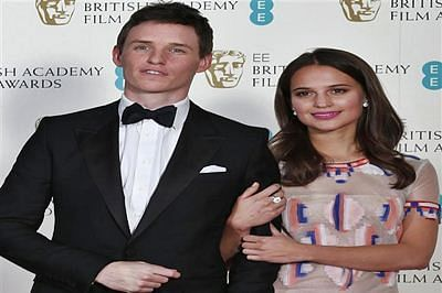 Eddie Redmayne, Alicia Vikander earn second BAFTA nod in a row