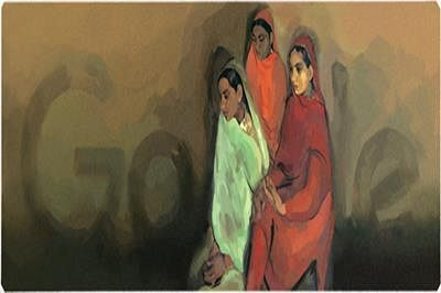 Google marks Amrita Sher-Gil's 103rd b'day with doodle