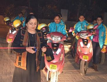 Women-only two-wheeler taxi service launched by Bikxie