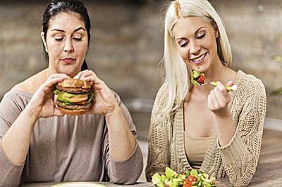 bingeing on junk food