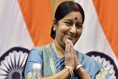 Sushma Swaraj leaves for two-day visit to Lanka