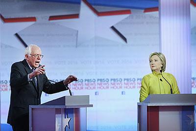 Hillary, Sanders spar  over race, immigration