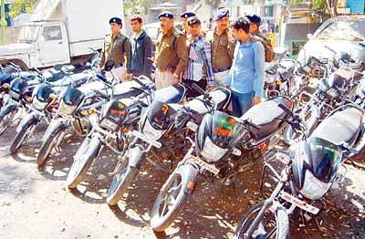 26 two-wheelers recovered, 3 held