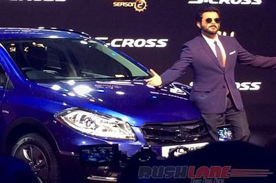 Anil Kapoor unveils Maruti S-Cross Limited Edition at 2016 Auto Expo in Noida recently.