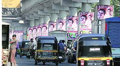 Netas cough up fines  for illegal hoardings