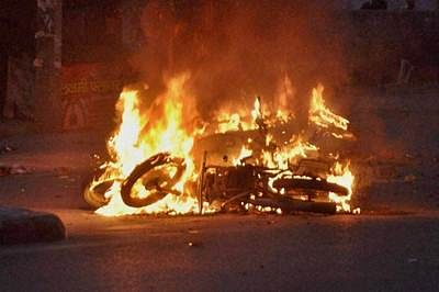 Jat quota row: Police station, petrol pump set afire in Meham