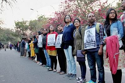 JNU Students Union says CRPF deployed on campus, admin rejects charge