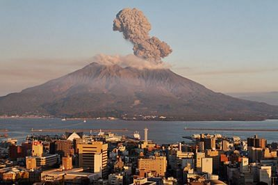 Japan's Mount Sakurajima erupts