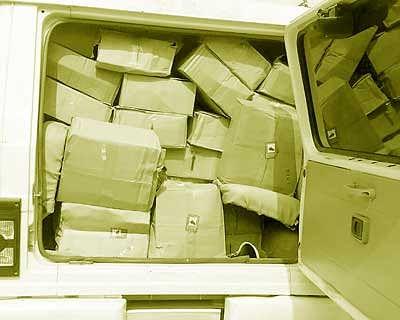 SUV carrying 30 crates illicit liquor seized