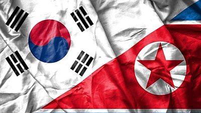 South Korea and North Korea flag