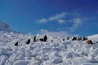 A file photograph of Siachen Valley