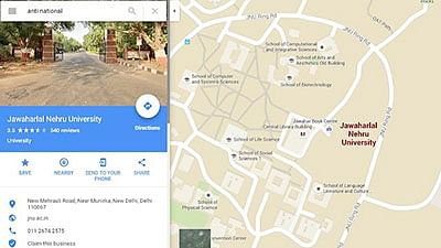 Google map search for  anti-national leads to JNU