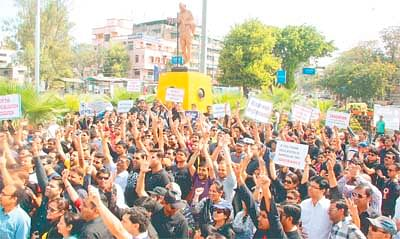 Parents protest feehike at Regal Square