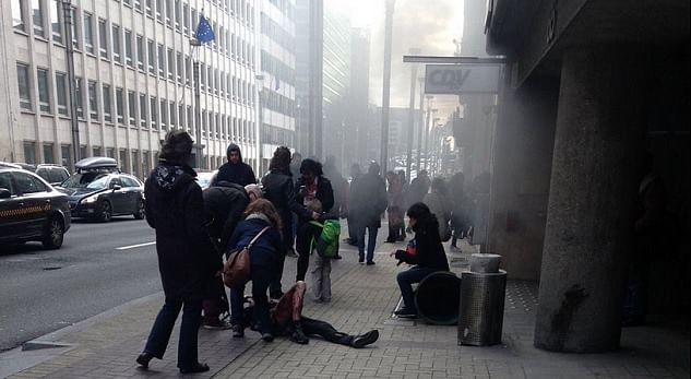 Explosions heard at Brussels airport