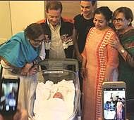 Arpita's baby boy brings happiness in bleak times