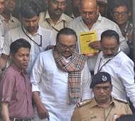 Mumbai;  Chhagan Bhujbal has appeared at ED office today for Maharashtra Sadan University Money Laundering FEMA Abuse of Power Corruption cases in Mumbai. Photo by BL SONI