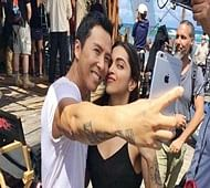 Deepika goes all smiles with co-star Donnie Yen