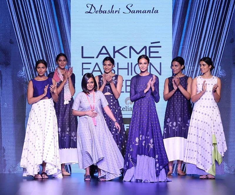 Debashri Samanta with models at LFW SR 2016