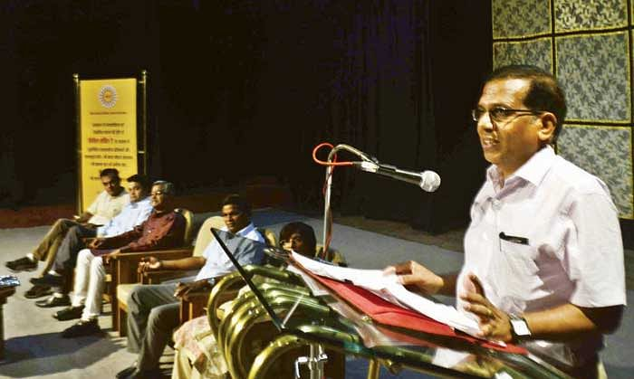 Poem recitation marks Civil Service Day at Bharat Bhawan
