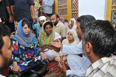 Handwara firing: Mehbooba applies balm