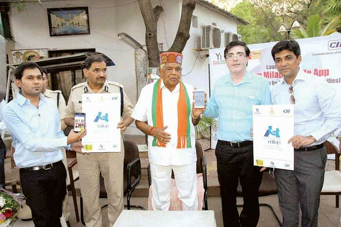 Babulal Gaur launches mobile App to help tracing missing kids