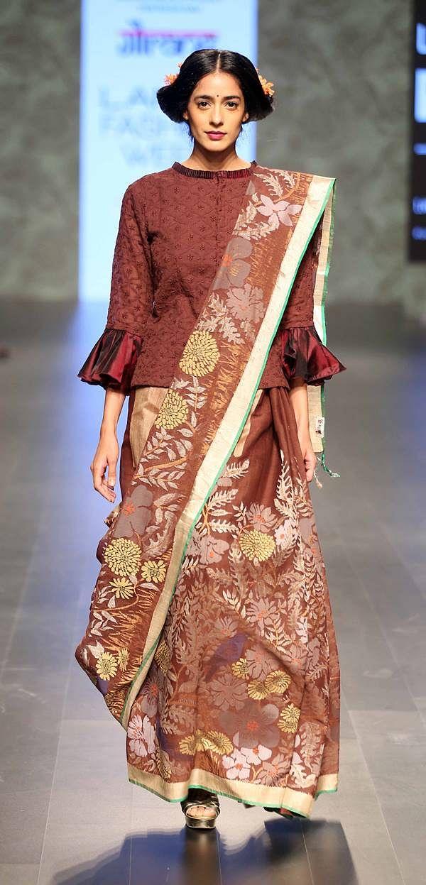 Model walks for Gaurang at LFW SR 2016