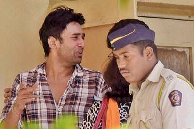 Mumbai: Television actress Pratyusha Banerjee's boyfriend Rahul Raj Singh visits hospital in Mumbai on Saturday, after the actress Pratyusha Banerjee allegedly committed suicide in Mumbai on Friday, who was known for her role of adult Anandi in the serial Balika Vadhu. PTI Photo (PTI4_2_2016_000083B)