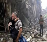 Airstrikes, shelling kill at least 60 in Syria's Aleppo city