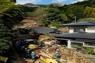 Japan twin quakes turned hills into deadly cascades of mud