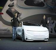 LeEco launches driverless 'Internet-linked' electric concept car