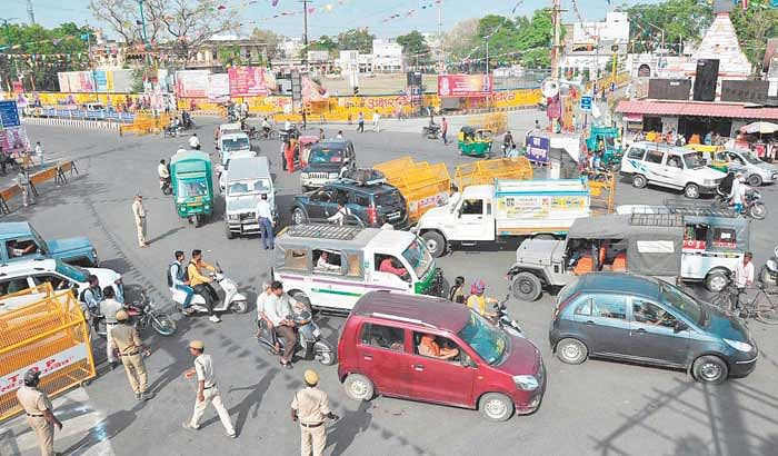 Chaos prevail on Ujjain city roads due to ill-prepared traffic plan
