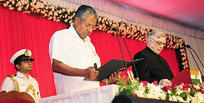 CPM strongman Vijayan  sworn in as Kerala CM