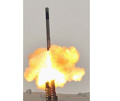 BrahMos test-fired, hits target