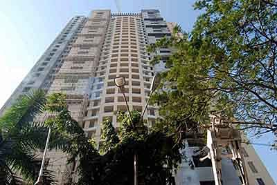 Mumbai : File photo of the 31-storey Adarsh Housing Society building complex located at Colaba in Mumbai.
