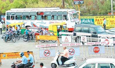 Traffic mayhem at Madhumilan Square