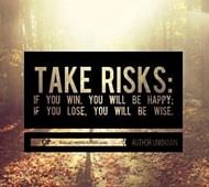 The importance of taking risks