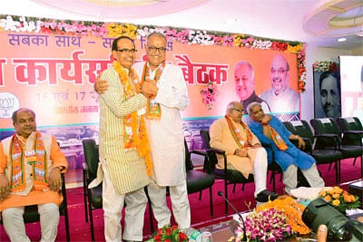 BJP state executive divided on caste lines