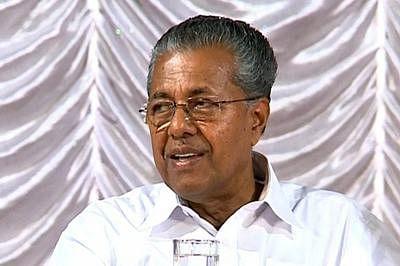 Kerala CMPinarayi Vijayan, ministers, Sitaram Yechury protest outside RBI