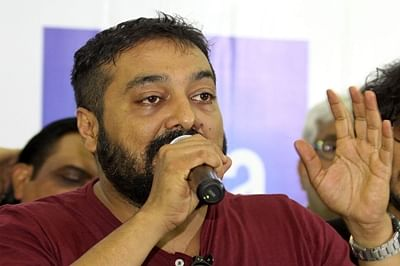 "Indian Bollywood film director Anurag Kashyap addresses media representatives during a press conference organised by IFTDA (Indian Film and Television Directors Association) on the Hindi film 'Udta Punjab' in Mumbai on June 8, 2016. Indian filmmakers have taken a bitter censorship row to court, the latest dispute involving the notoriously sensitive censor board that has renewed fears over creative freedoms. A lawyer told Mumbai's highest court the Central Board of Film Certification (CBFC) had demanded 13 cuts to ""Udta Punjab"", a Bollywood movie depicting drug addiction in Punjab state.  / AFP PHOTO / SUJIT JAISWAL"