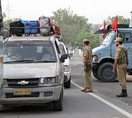 Security personnel on Jammu-Srinagar National Highway