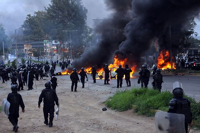 Six dead, more than 100 injured in Mexico protest