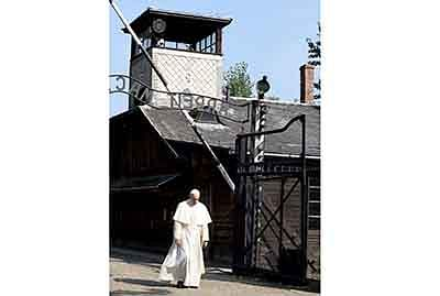 Pope visits Auschwitz Nazi camp