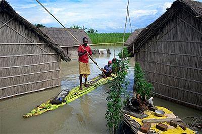 Assam reels under massive  flood; over 1.5 lakh affected