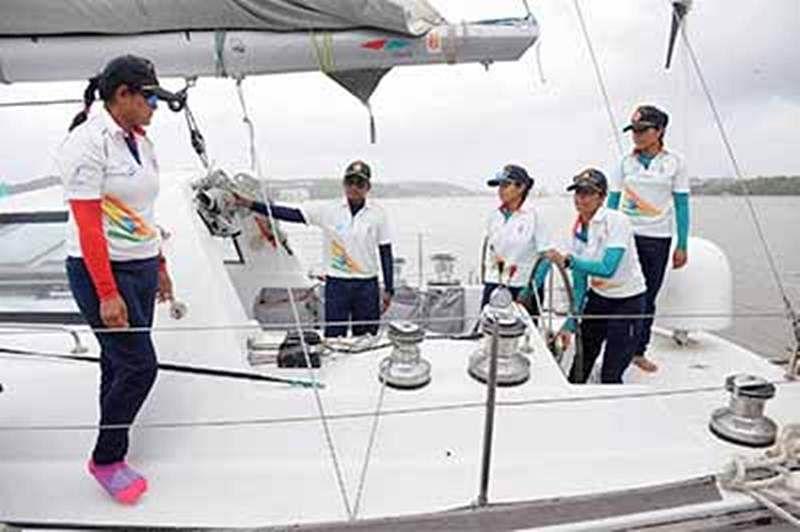 Indian Navy's only Ocean going sailboat Mhadei returns Goa port