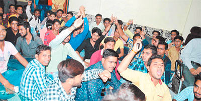 ABVP protests against higher education dept's autocratic order